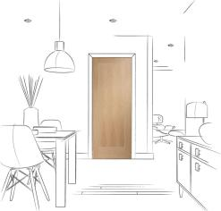 XL Joinery Internal Pre-Finished Oak Varese Fire Door