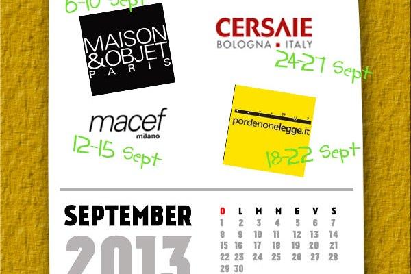 eventi in agenda settembre 2013