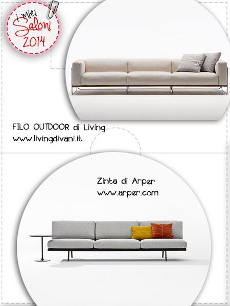 divani anteprime saloni - Living e Arper
