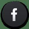 icona facebook nera