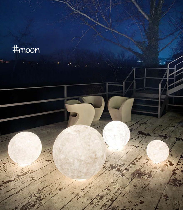 lampade design da esterno : moon in es art design