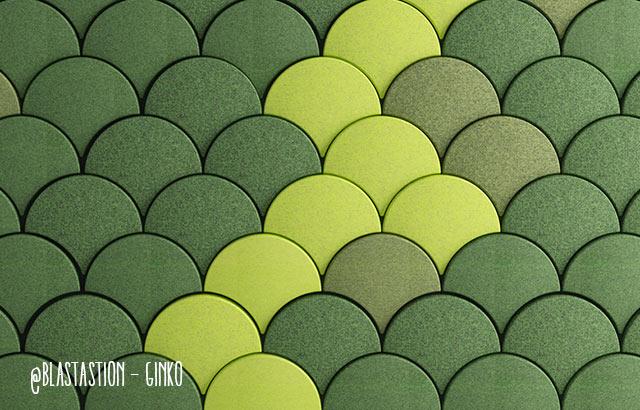 Rivestimento parete Ginko fonoassorbente