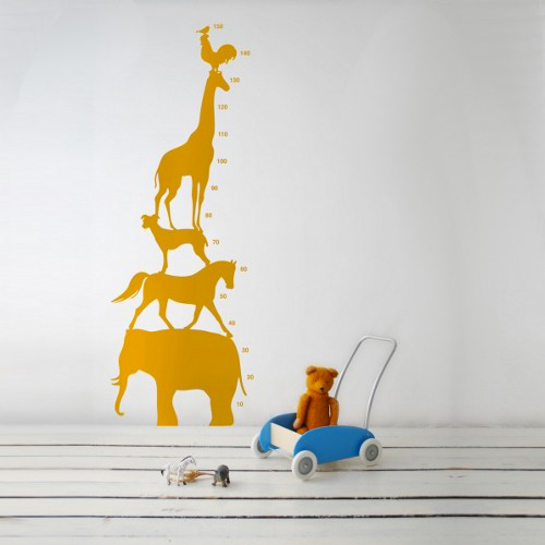 ferm living animal tower: wall stickers.