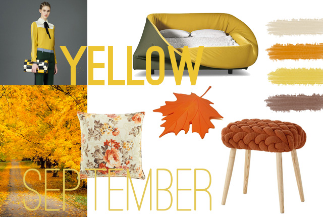 Yellow September: ispirazioni per arredare casa.