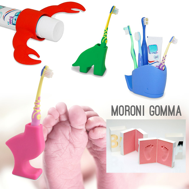 Moroni Gomma doni dedicati alle neomamme.