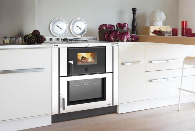 Cucine a legna moderne - modello Verona acciaio inox