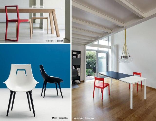Tavoli e Sedie bicolore