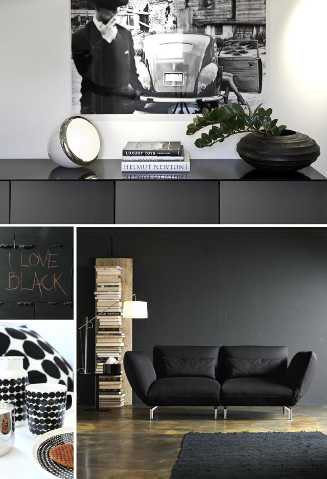 Ispirazioni di arredo di colore nero.