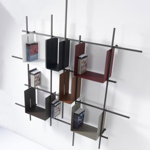 Libreria parete moderna.