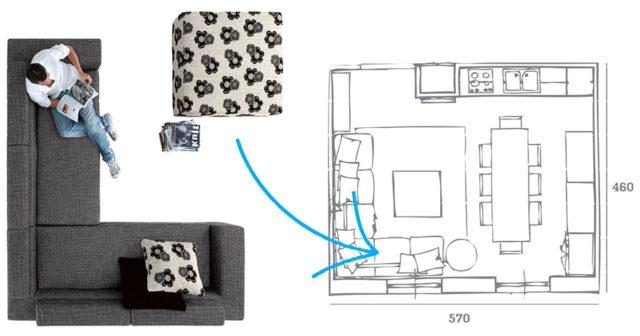 Come arredare il soggiorno esempio.
