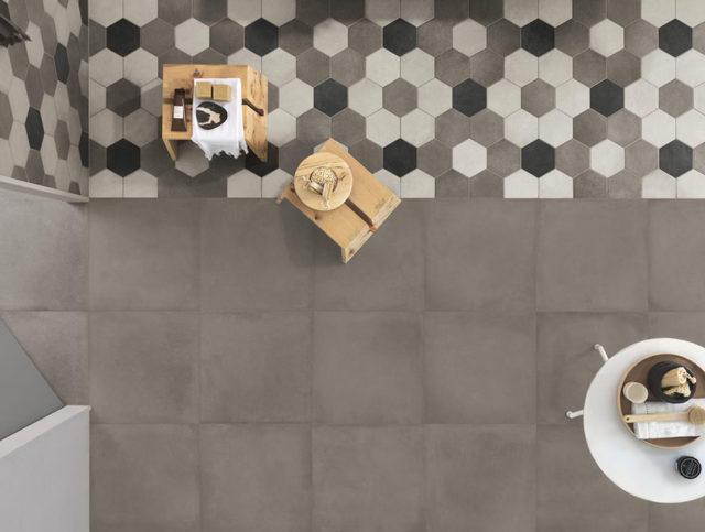 Ragno pavimento esagonale per cucina e bagno.