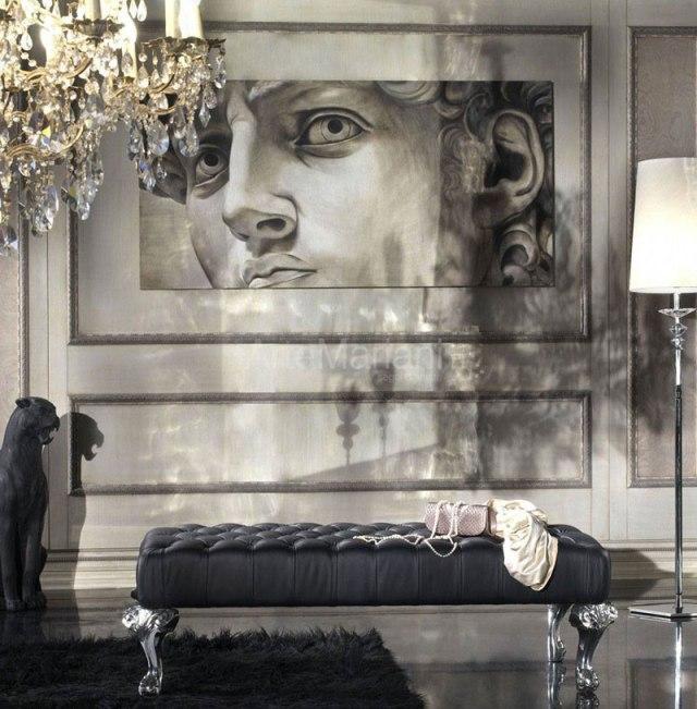 Affreschi moderni - intervista a alberto Mariani per scoprire la modernità degli affreschi - un moderno David a parete.