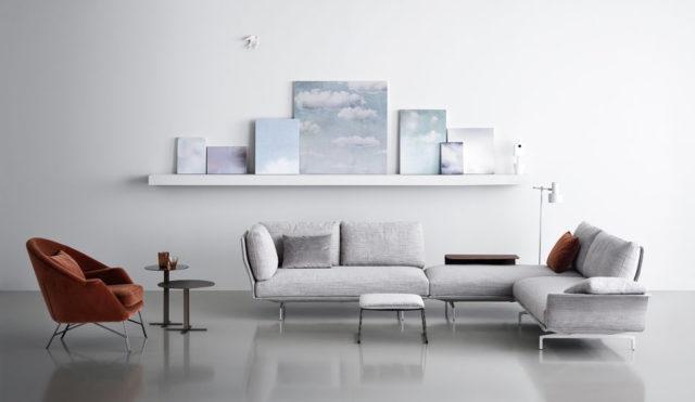 Saba Italia, nuovo divano presentato al Salone del Mobile 2017 - modello Avant Apres