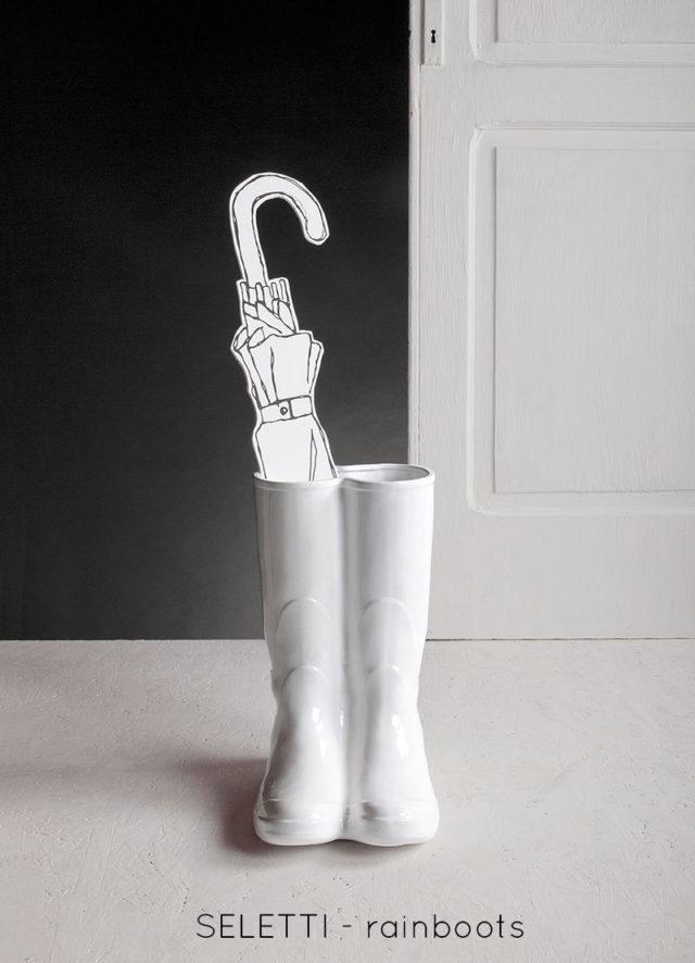 Portaombrelli di design - Seletti RainBoots bianco