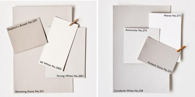 cartelle colore bianco di Farrowl and Bowl