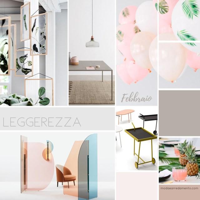 Moodboard stili di arredamento febbraio 2018 - il nuovo stile minimale per la casa.