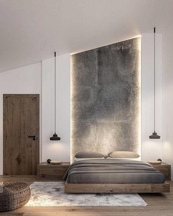 Plain interioris - bedroom