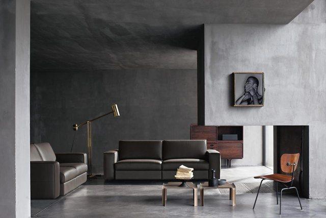 Plain interioris - living room in black