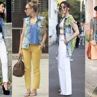 Colete jeans, peça versátil, despojada e linda