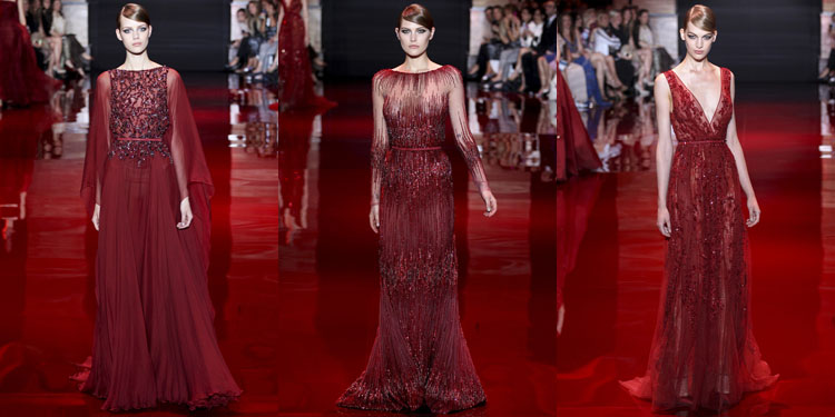 color burdeos Elie Saab