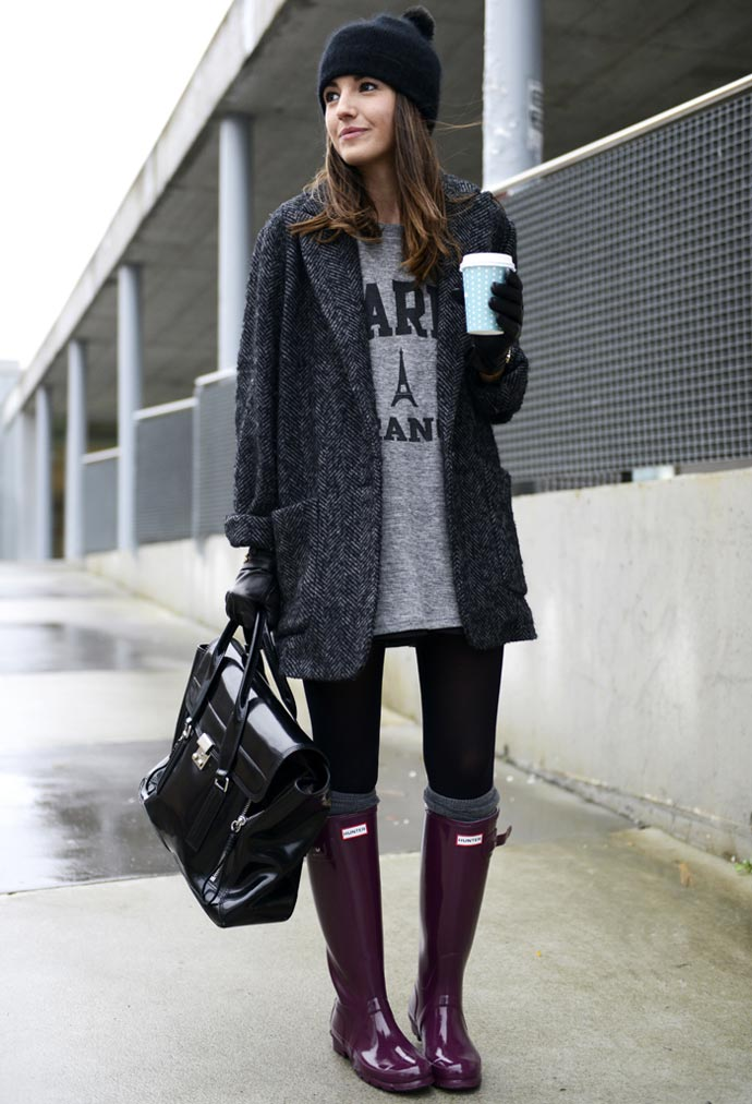 Blogger Lovely Pepa con botas Hunter
