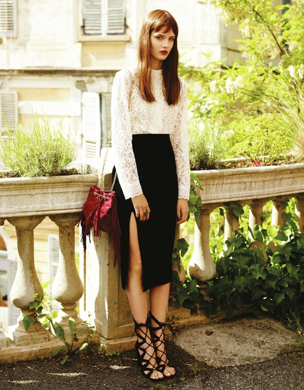 Vestido terciopelo negro primark