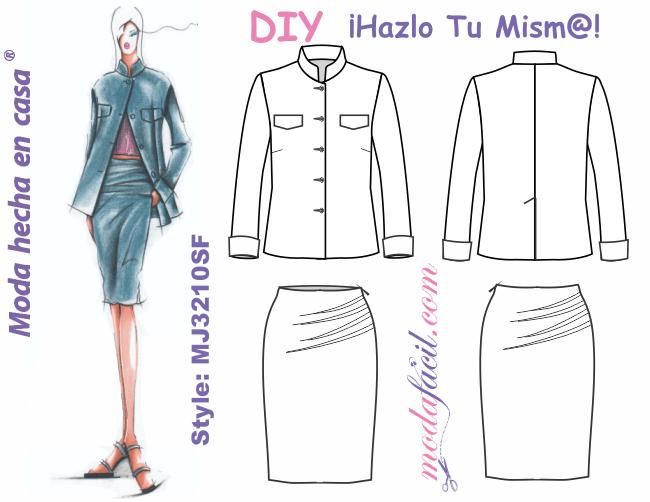 a9bd42f14 Moldes de sacos y faldas para mujeres ejecutivas - Modafacil DIY