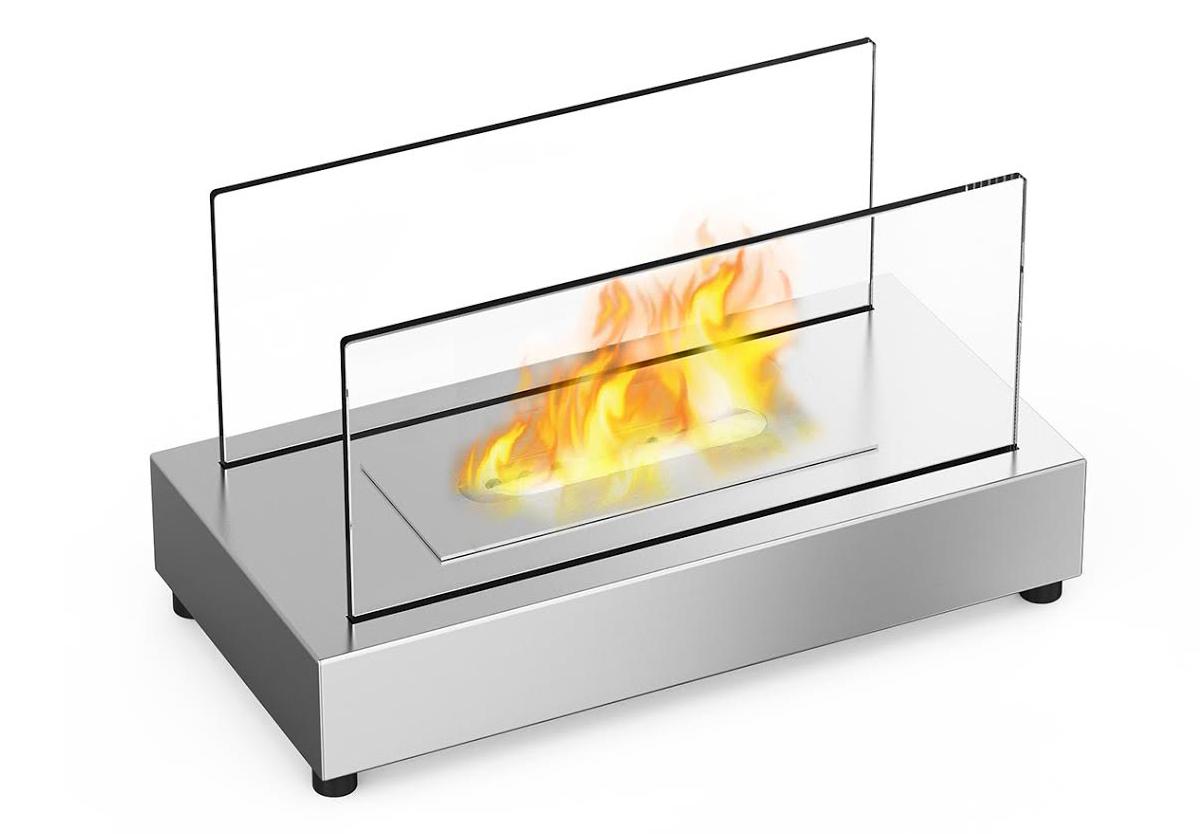 Vigo Ventless Tabletop Bio Ethanol Fireplace In Stainless