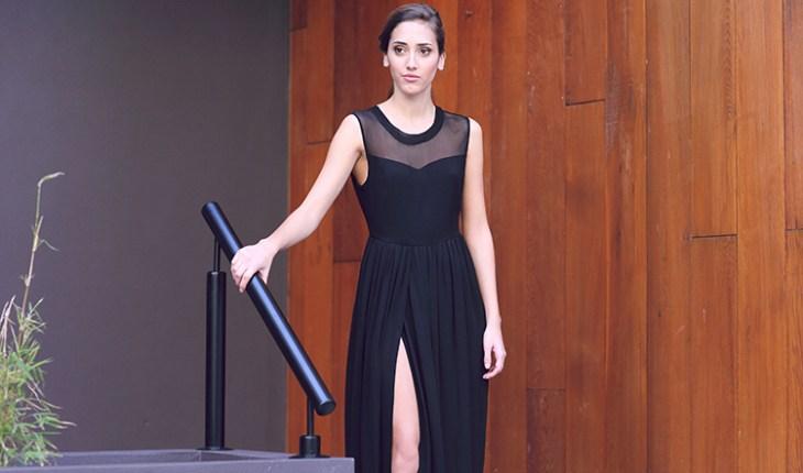 Marmaris Exposed Back Dress - Jet Black by Graziela at www.modagrid.com