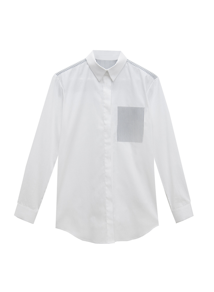COMBINED STRIPES SHIRT BY HANNAH on www.modagrid.com