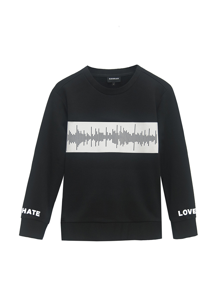 FREQUENCY SWEATSHIRT BY HANNAH on www.modagrid.com