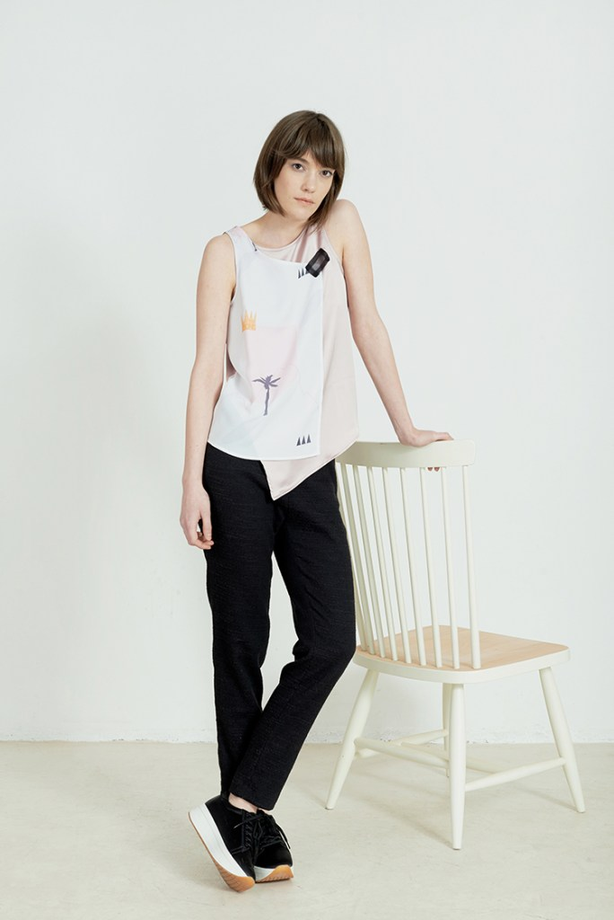 Eve pastel pink top by Anna Daubner on www.modagrid.com
