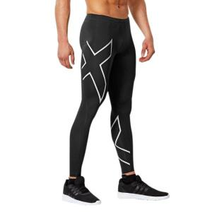 2XU Mens Compression Tights – Black/Silver