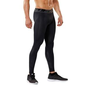 2XU Accelerate Mens Compression Tights – Black/Arrow Stripe Nero