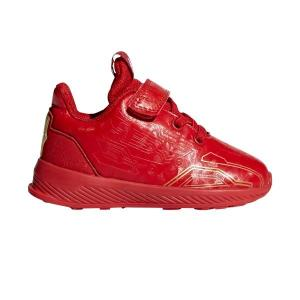 Adidas Avengers Iron Man RapidaRun – Toddler Boys Running Shoes – Scarlet/Gold