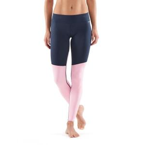 Skins DNAmic Soft Womens Compression Long Tights – Cameo Pink/Navy Blue