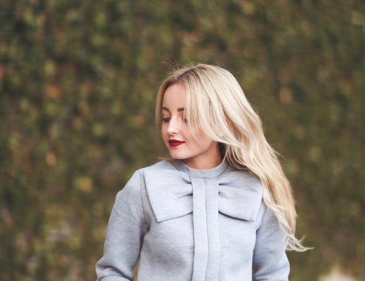 Alena Gidenko of modaprints.com shares her favorite grey bow sweater