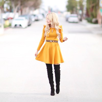 LITTLE YELLOW MUSTARD DRESS