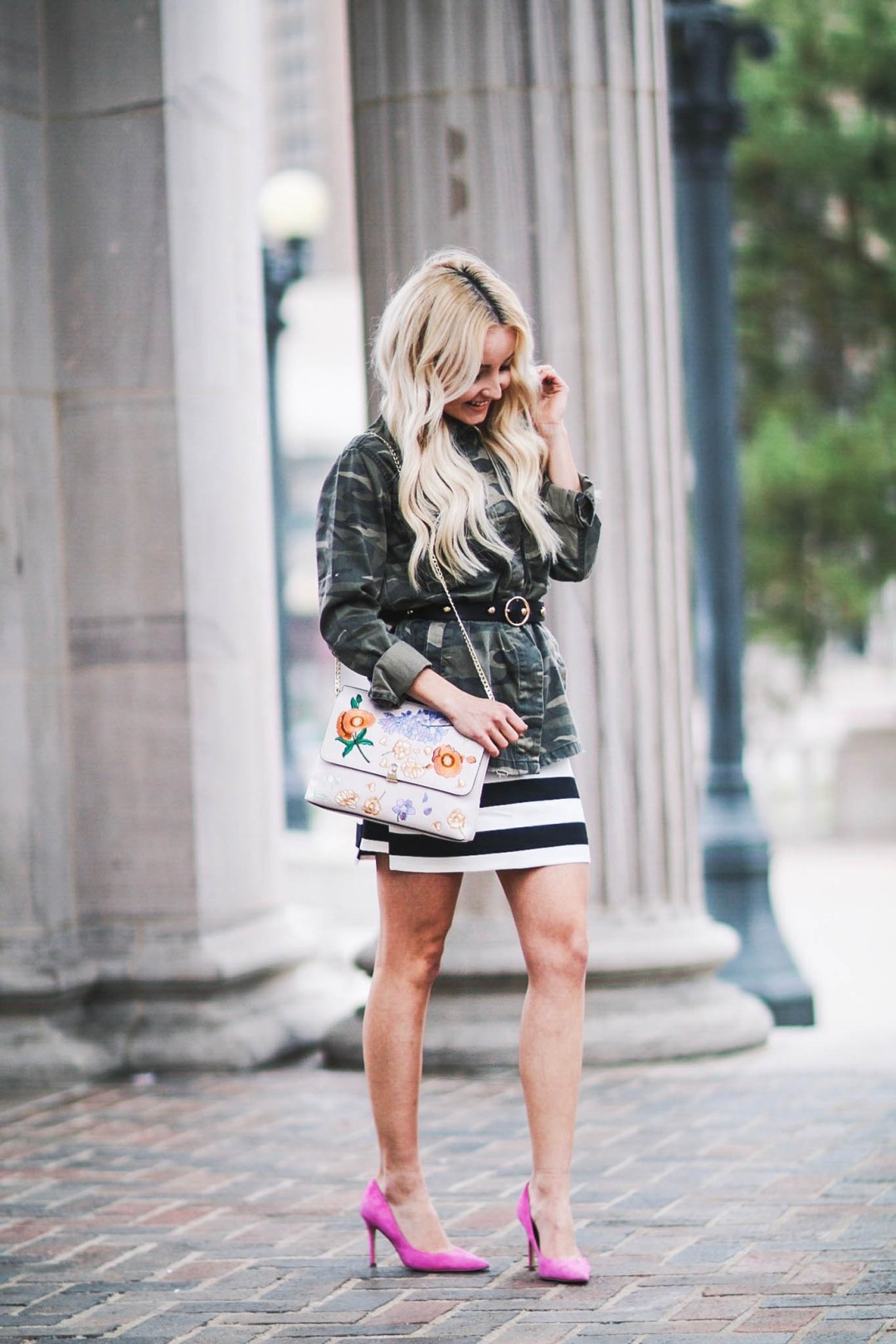 Alena Gidenko of modaprints.com styles a jacket as a top and shows tips on mixing prints for Spring