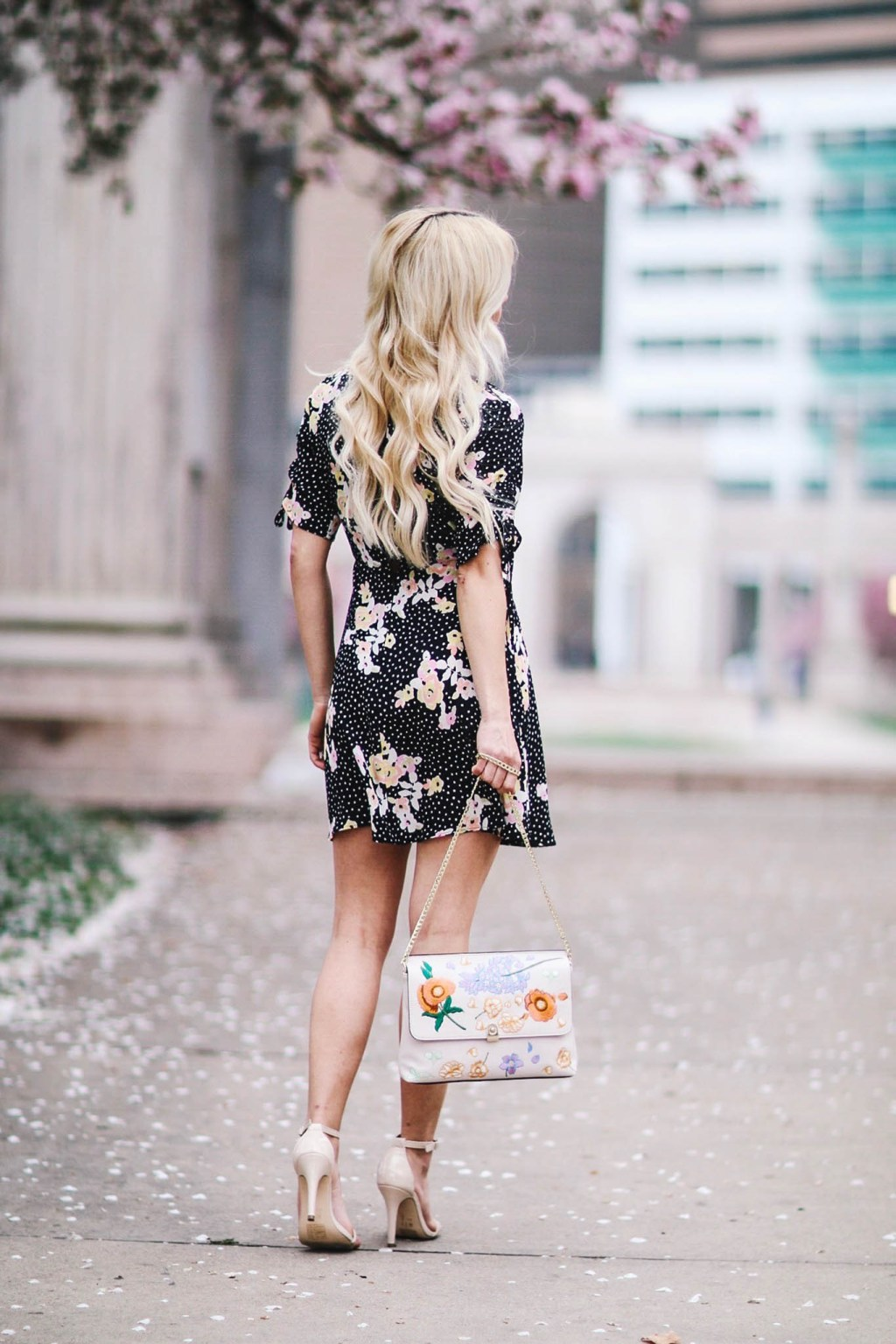Alena Gidenko of modaprints.com styles a floral TopShop dress for Spring