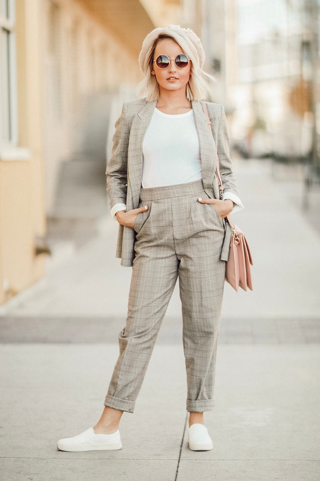 Alena Gidenko of modaprints.com shares tips on how to style down a suit for women