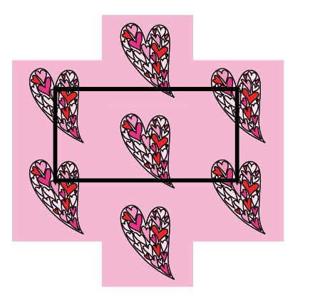 Modarium afbeelding van het rapport van meest eenvoudige half verzet met harten illustratie