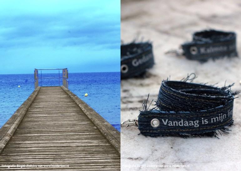 afbeelding Modarium moodboard Big Blue Denim 01 Normandische kust en Modiste armbandjes