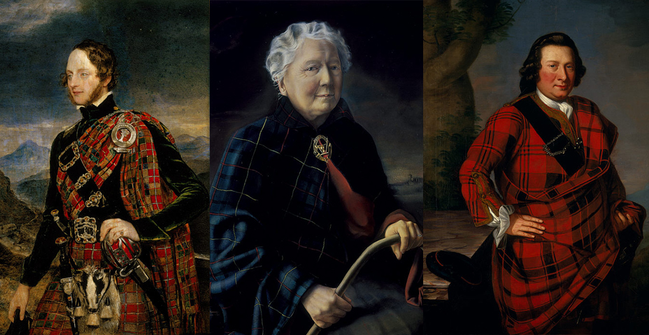 "Modarium beeldcollage ""Blazing with Crimson: Tartan Portraits"""