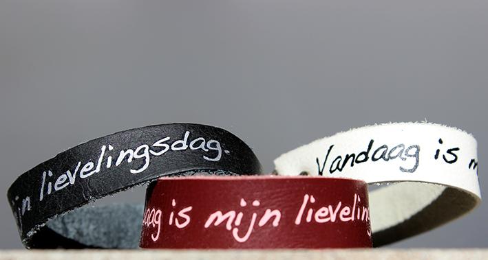 Modarium afbeelding van Modiste armbandjes met een wens lievelingsdag