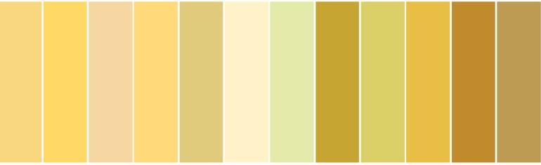 Modarium Geel moodboard 07 geel swatches