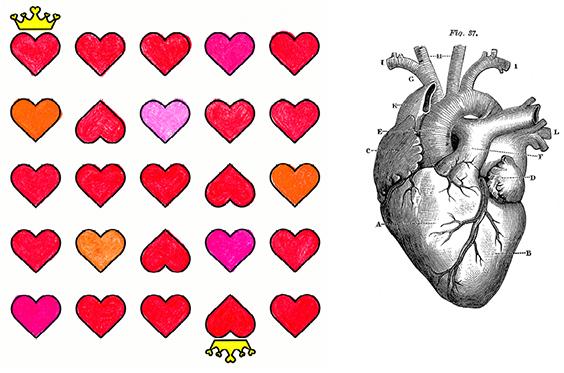 De liefde en hartjes trend