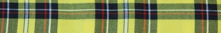 Modarium beeld van een Schotse ruit in geel