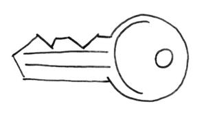 Modarium illustratie van sleutel bij Inspired by Nature toekomstscenario