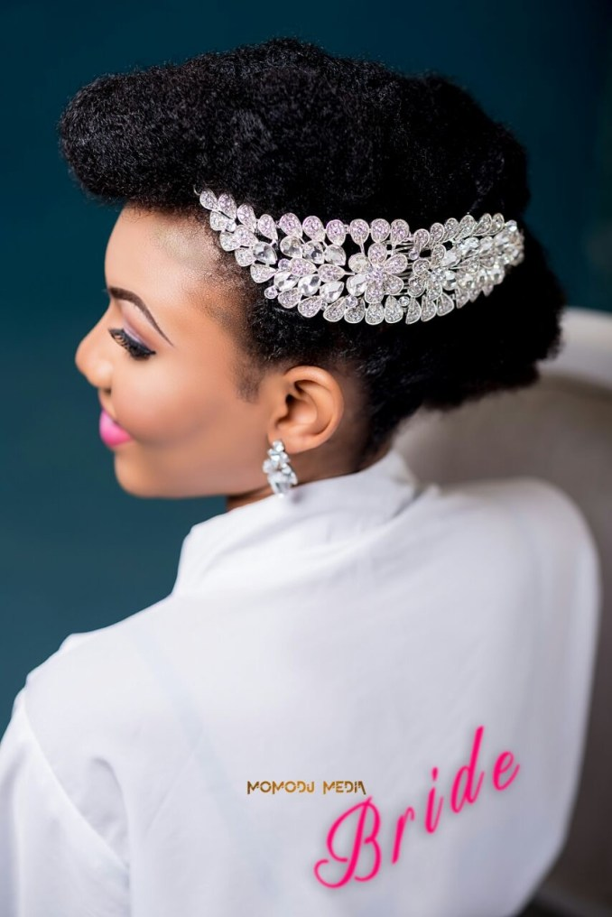 how to style bridal natural hair - a nigerian naturalista's